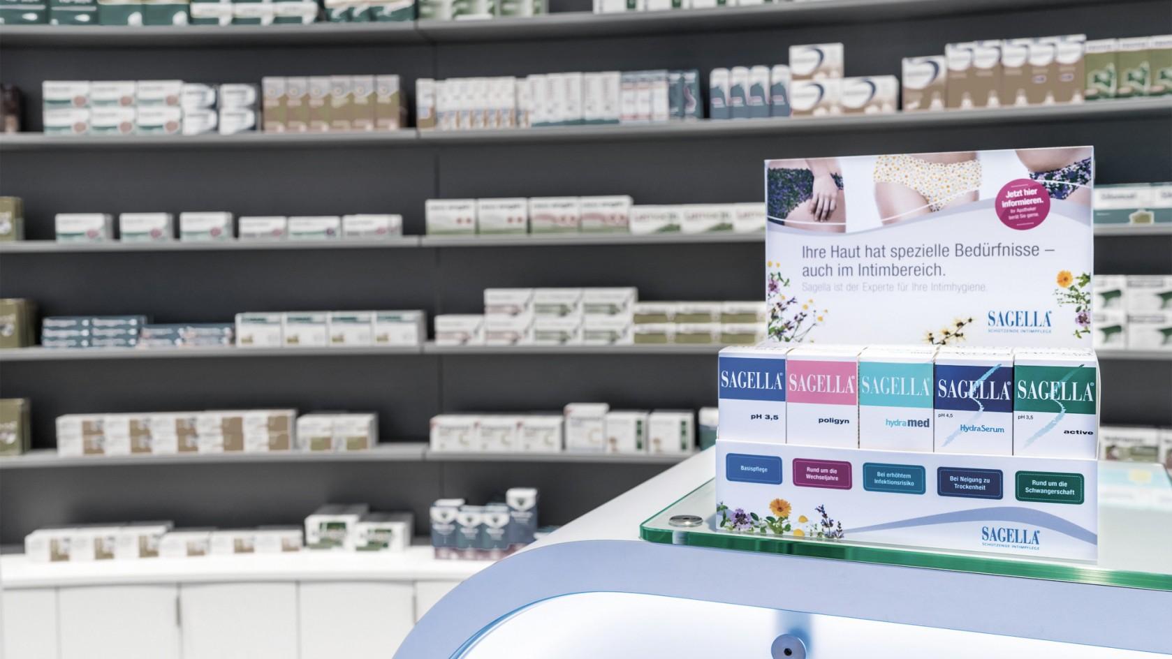 Verkaufsförderung: Stein designt Displays für Sagella