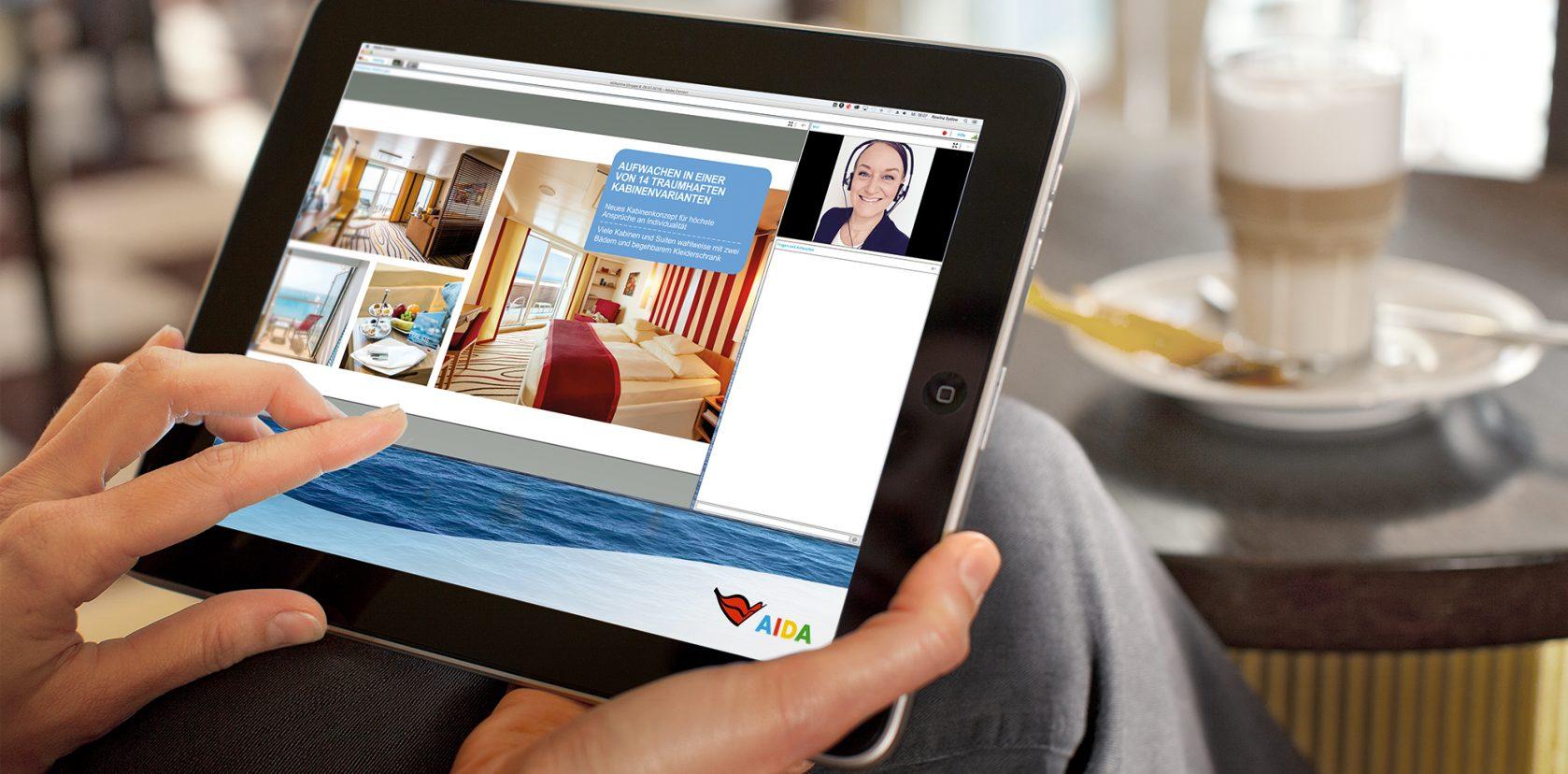 AIDAprima Webinar für Reisebüromitarbeiter